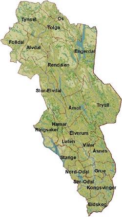 kart hedmark fylke Miljølære i Hedmark kart hedmark fylke